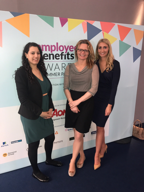 Sharifa Lakhani, MD; Jo Rychlick, Head of HR; Laura Boswell, PA