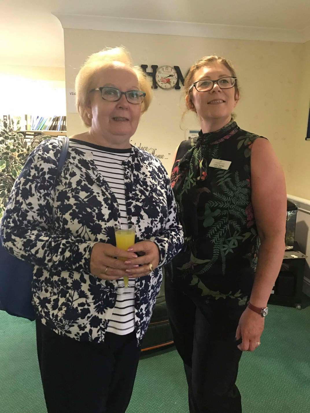 MP Marion Fellows and Manager of Beechwood Care Home, Cathy Togneri