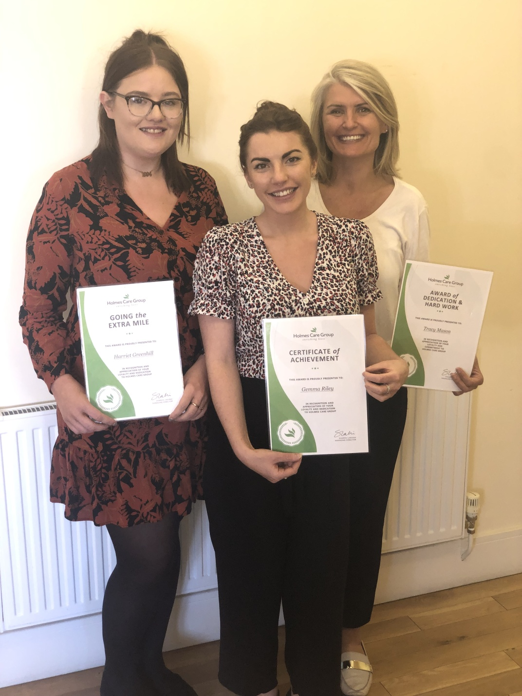 Harriet Greenhill, Gemma Riley and Tracy Mason - Head Office