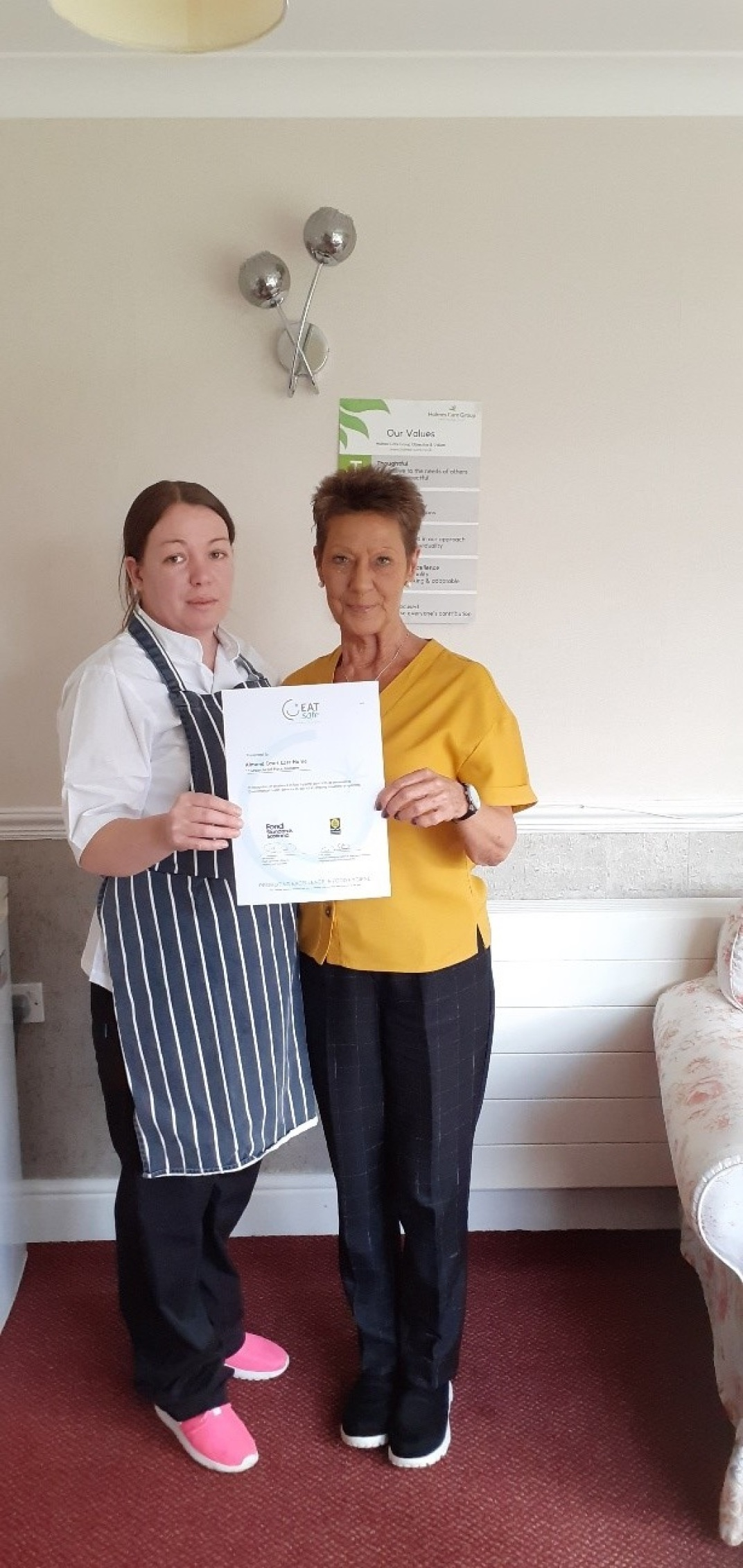 Head Chef Jacqueline (left) and Service Manager Lorna (right).