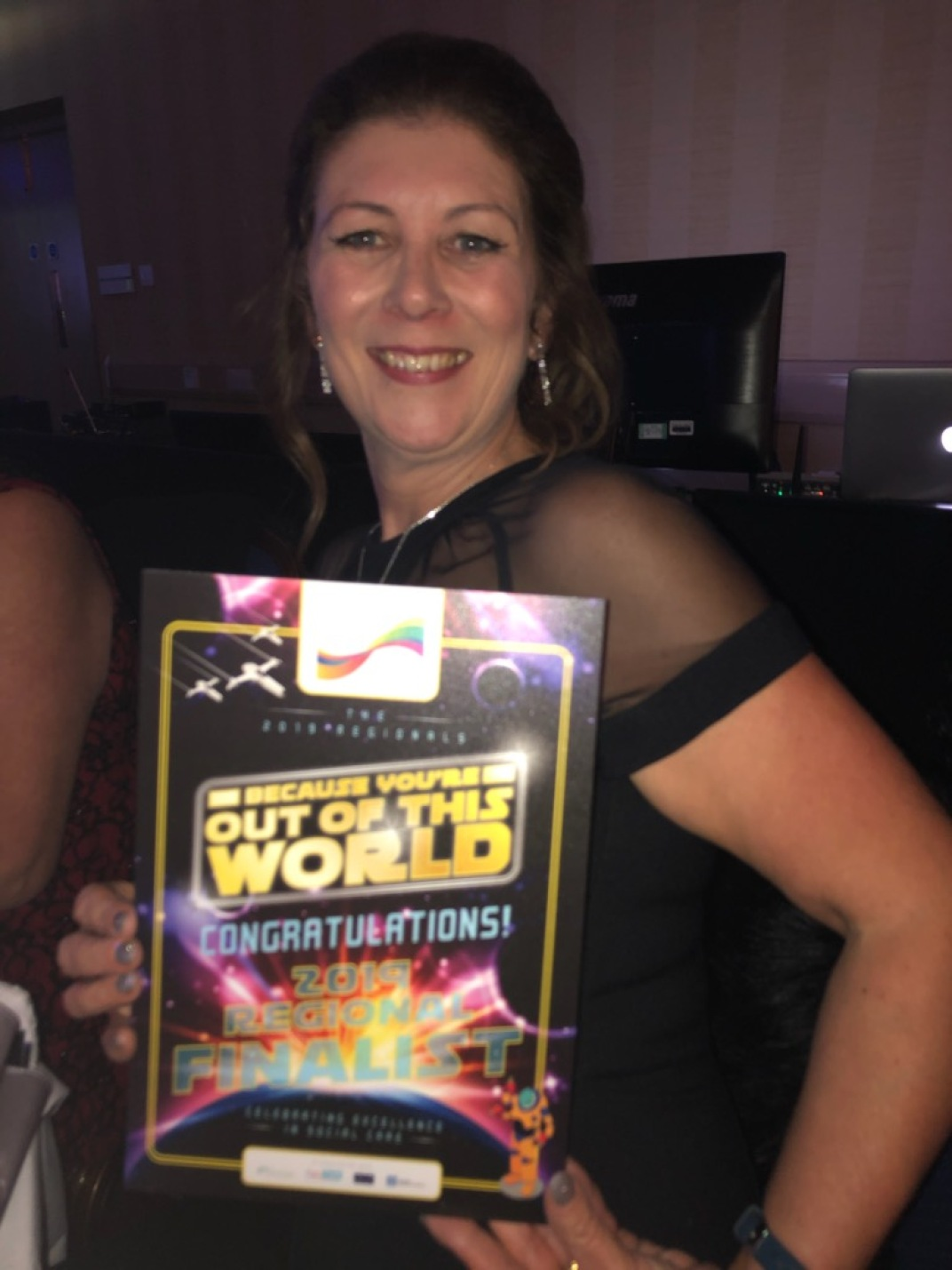 Cathy with her runner up award